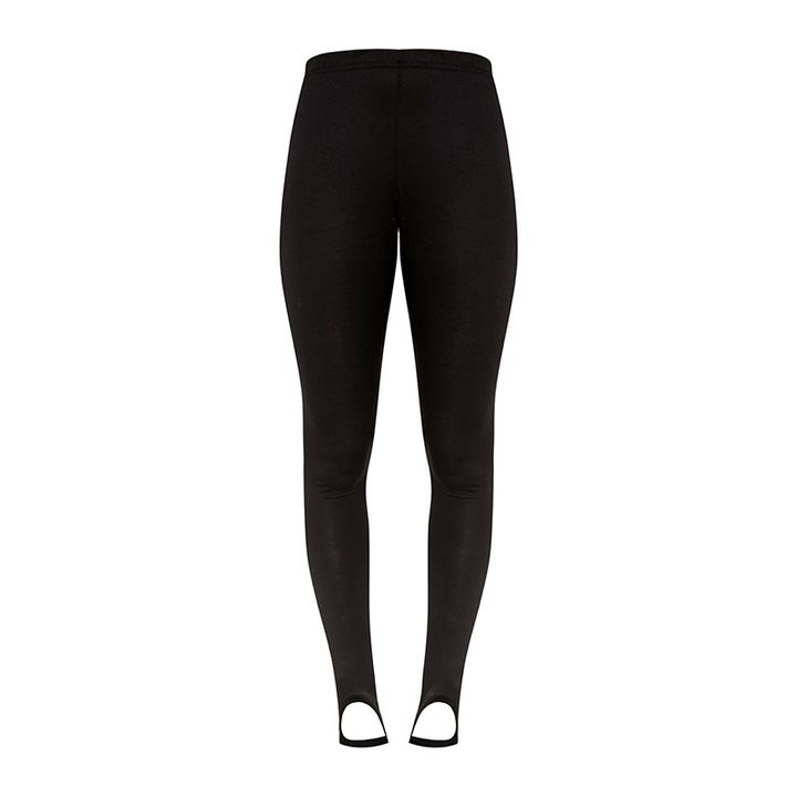 "<p><a rel=""nofollow"" href=""https://www.prettylittlething.us/basic-black-jersey-stirrup-leggings.html"" target=""_blank"">Pretty Little Thing Basic Black Jersey Stirrup Leggings,</a> $14</p>"