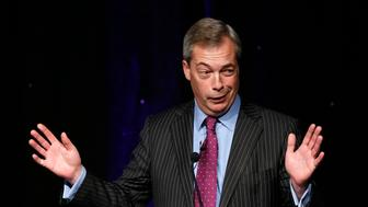 Former United Kingdom Independence Party (UKIP) leader Nigel Farage speaks at the party's spring conference in Bolton, Britain, February 17, 2017. REUTERS/Andrew Yates