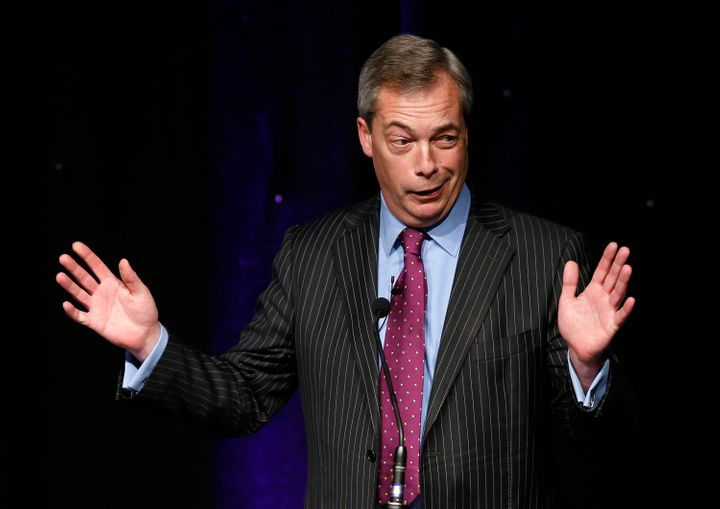 Former United Kingdom Independence Party leader Nigel Farage speaks at the party's spring conference on Feb. 17, 2017.