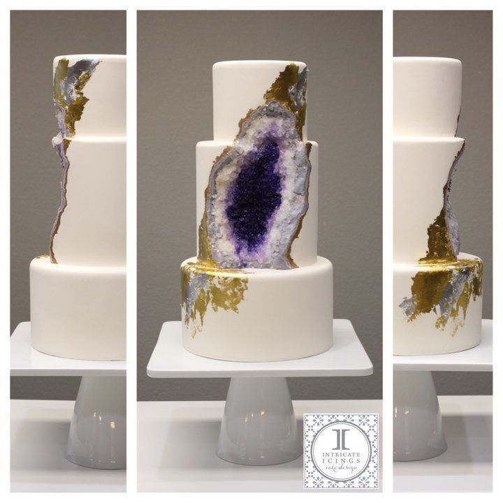 "Teufel created this <a href=""http://www.huffingtonpost.com/entry/geode-cake-will-rock-your-world_us_56a68587e4b0d8cc109b0254"">intricate geode cake</a> for a wedding industry event in 2016."