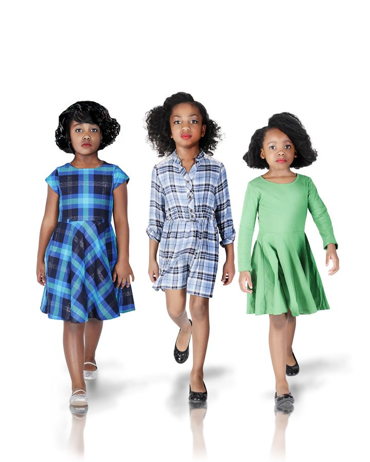 Bella, Troy and Sydney portraying Katherine Johnson, Dorothy Vaughan and Mary Jackson