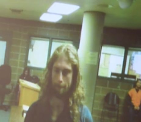 A screenshot from video of Smith's court appearance.