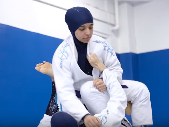 Nancy and Yara Helmy have trained in Brazilian jiu-jitsu since 2012.