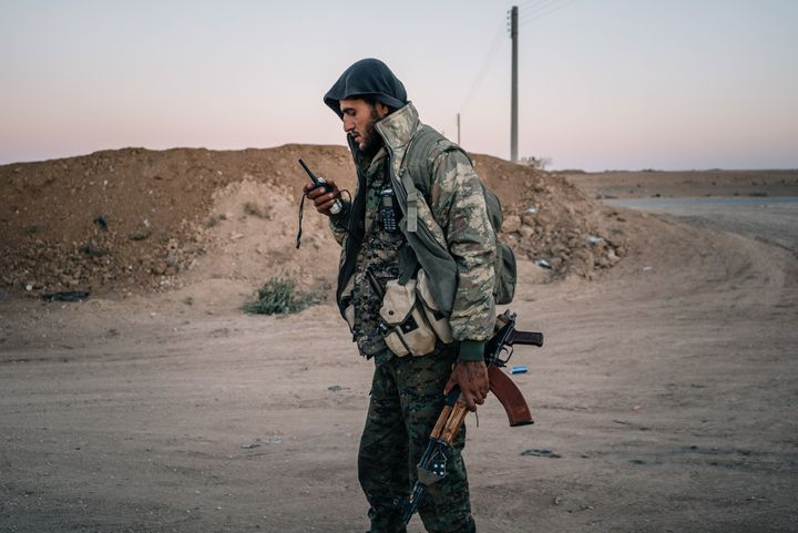 A member of the Kurdish-backed YPG in Tal Samin, Syria, during anoperation to isolate Raqqa on Nov. 24, 2016.