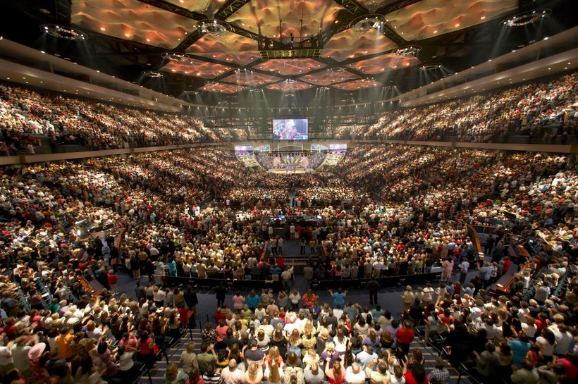 Sure, sure, blessed <em>are</em> the poor in spirit: for theirs is the kingdom of heaven. But do they have a JumboTron?