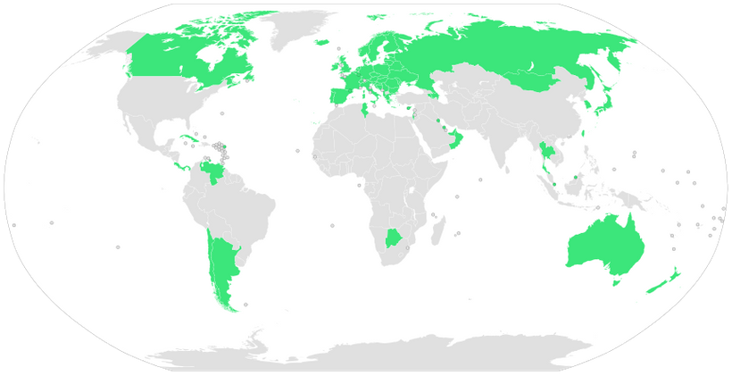 """Those countries in green are the ones where the term """"medical bankruptcy"""" has no meaning."""