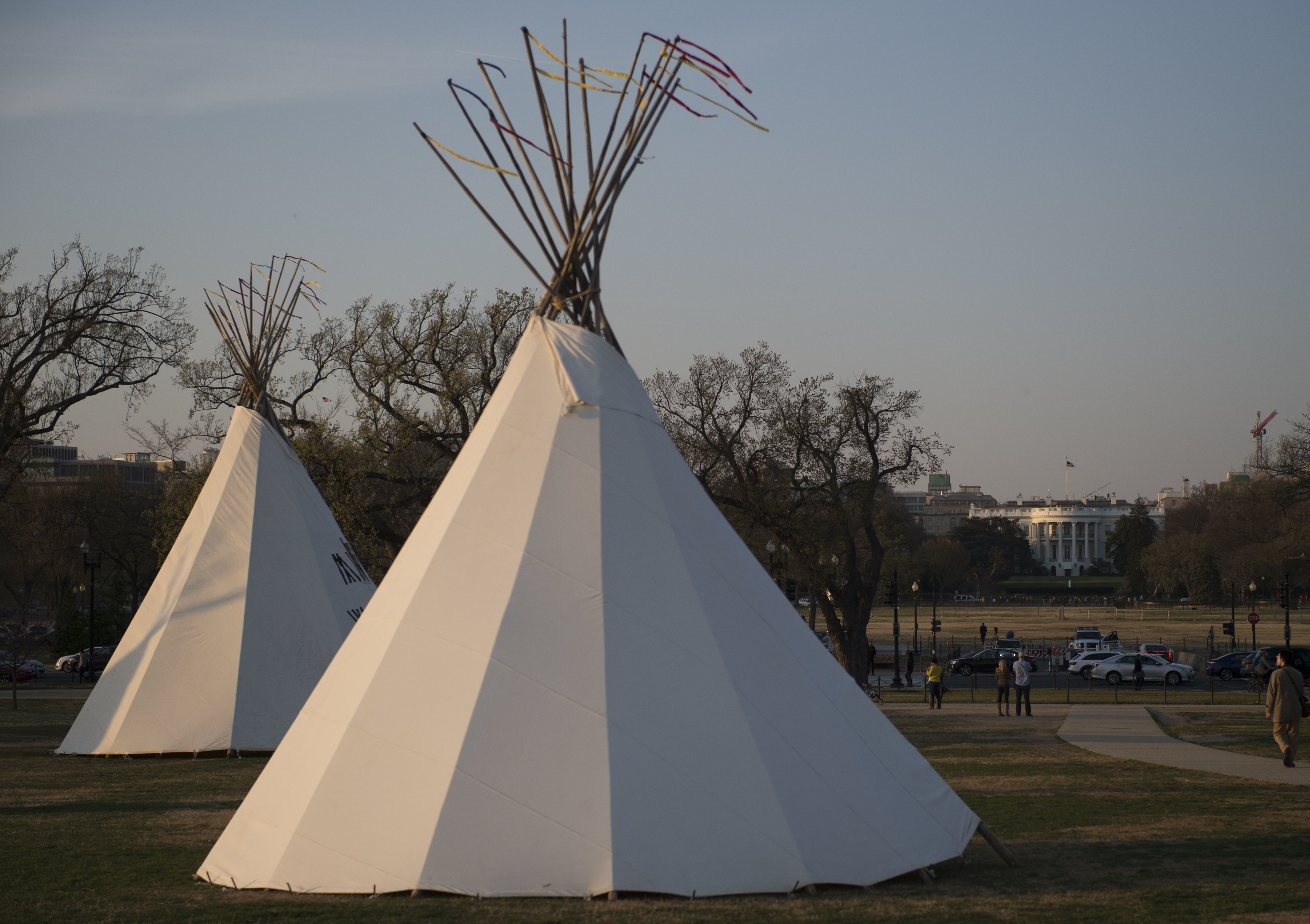 Teepees were erected on the National Mall near the White House as tribes from around the U.S. gathered for four days of