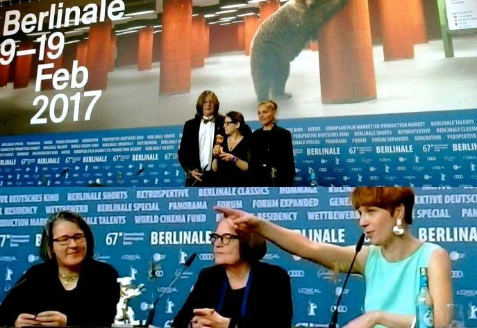 <em>ABOVE: Hungarian director Ildikó Enyedi with her Golden Bear for Best Film: </em><strong>Testről és lélekről (On Body and