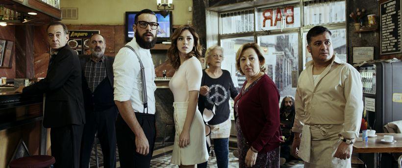 Blanca Suarez with her co-stars Alejandro Awada, Joaquin Climent, Mario Casas, Terele Pavez, Carmen Machi, Jaime Ordóñez and