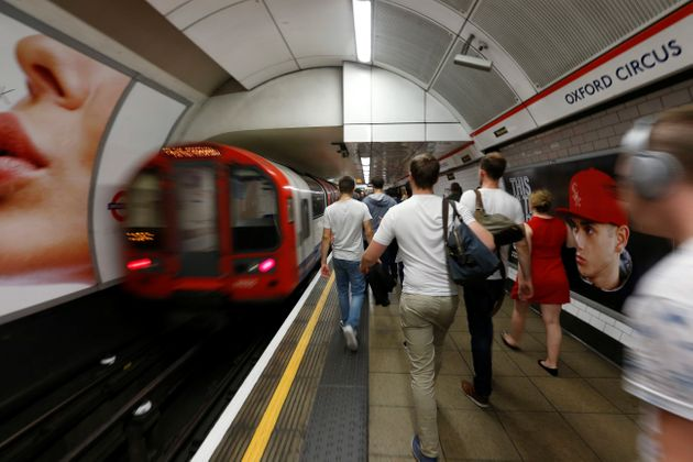 Long delays on the Central Line after a train derailed. File