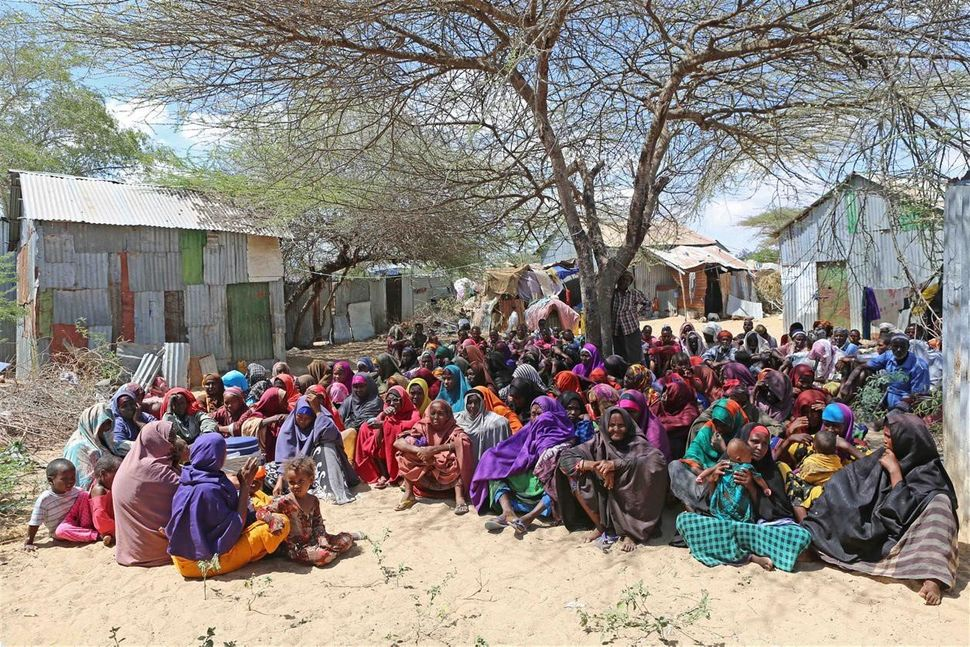 Somalis try to continue their lives in tents without water and electricity as they fight against hunger and lack of water due