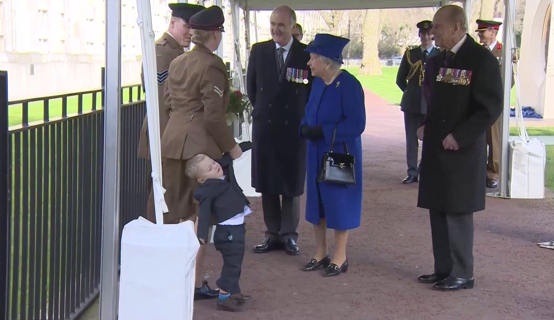 The Queen Proves She's Not One For Judging Toddler Tantrums And Theresa May Demos Child Calming
