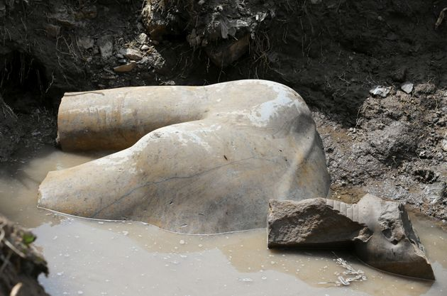 A part of the torso archaeologists believe depicts Pharaoh Ramses
