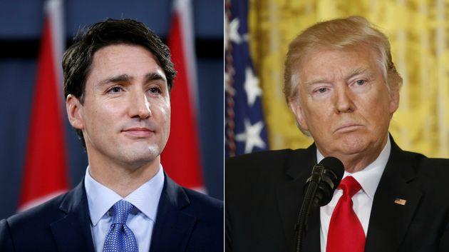 Justin Trudeau (left) has pledge $650 million to women's reproductive healthcare following Donald Trump's...