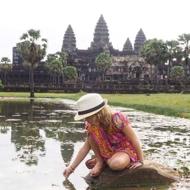 <p>Quiet time at Angkor Wat, Cambodia</p>