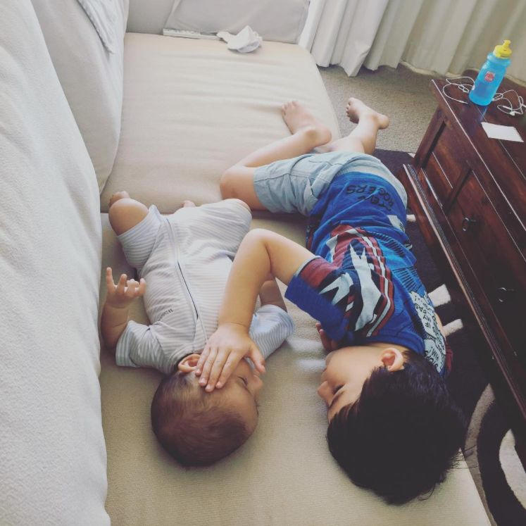 Mum Finds Toddler Comforting Baby Brother Who Has Terminal