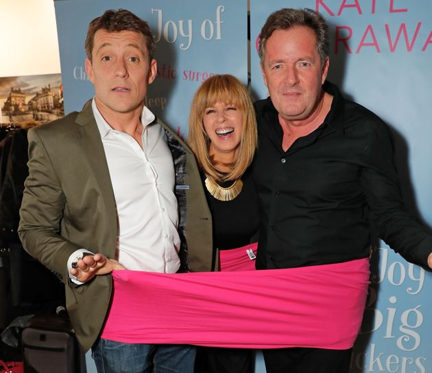 Ben Shephard, Kate Garraway and Piers Morgan attend the launch of Kate Garraway's new book 'The Joy Of...