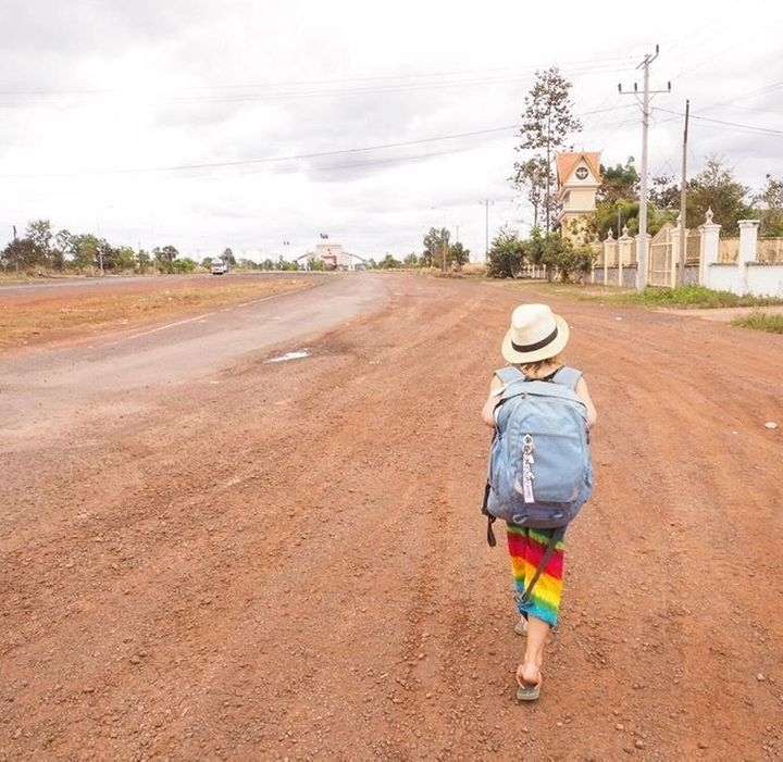 <p>No mans land -- overland border crossing</p>