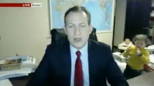 Children hilariously interrupt live BBC interview