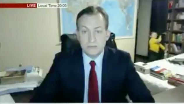 Serious interview on BBC turns hilarious when children barge into room