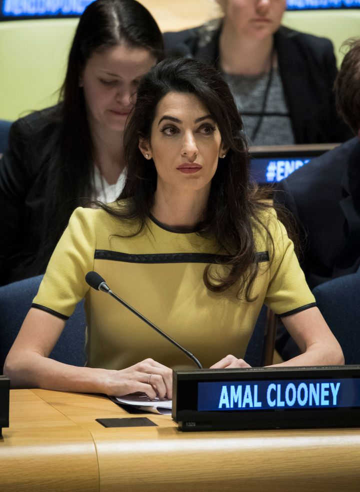 "Amal Clooney attends an event titled ""The Fight against Impunity for Atrocities: Bringing Da'esh to Justice."""