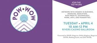 Original logo and name for Pittsburgh based women's networking event organized by Whirl Magazine.
