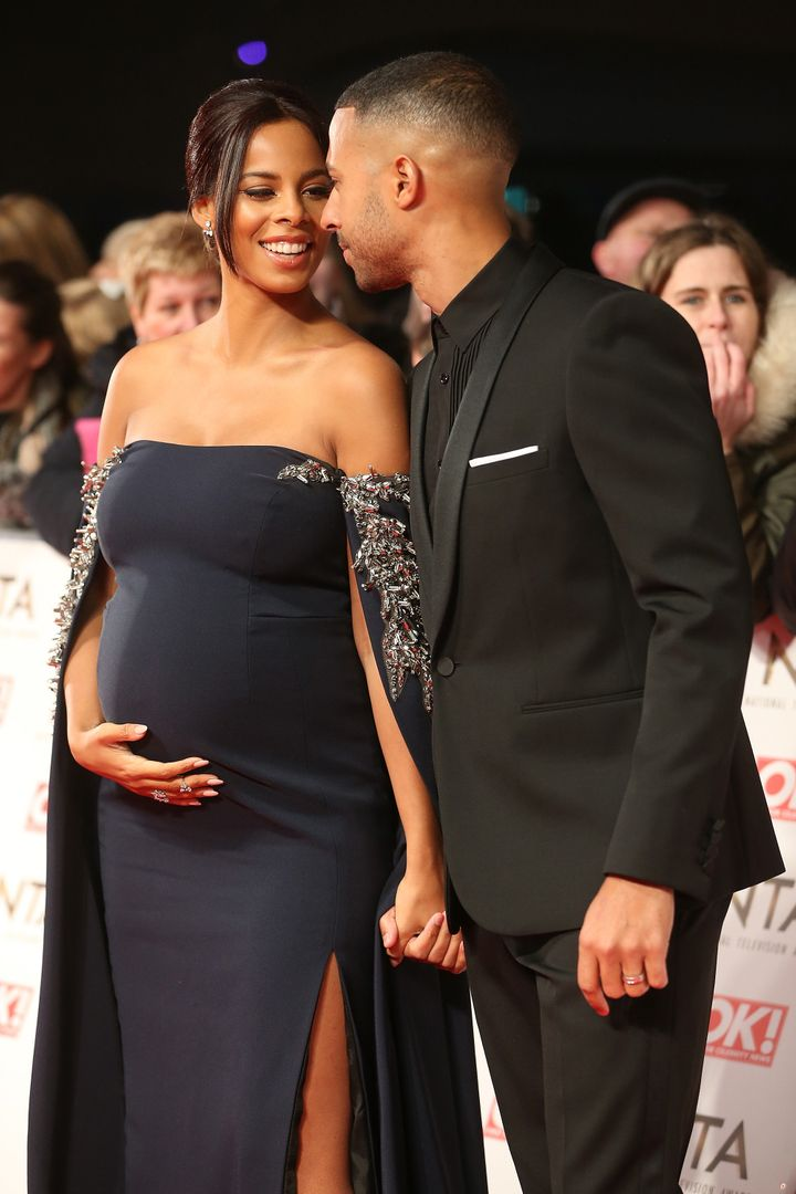 Rochelle and Marvin Humes at the National Television Awards on 25 January 2017
