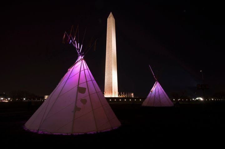 Tribes gathered in D.C. for several days ahead of Friday's protest.