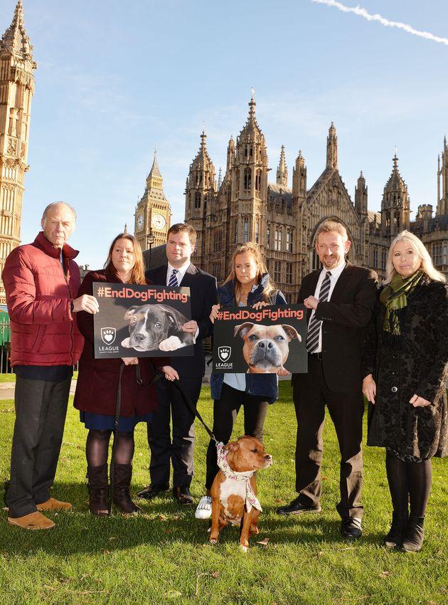 (From the left) Sir Ranulph Fiennes, Anna Turley MP, Kevin Foster MP, TOWIE star Chloe Meadows, Eduardo...