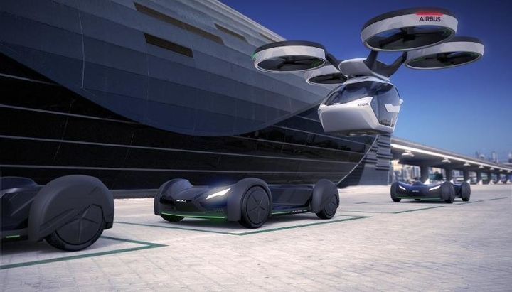 "The vehicle's ""<a href=""http://www.airbusgroup.com/int/en/news-media/press-releases/ITALDESIGN-AND-AIRBUS-UNVEIL-POPUP.html"" target=""_blank"">air module</a>"" would fly it above city traffic."