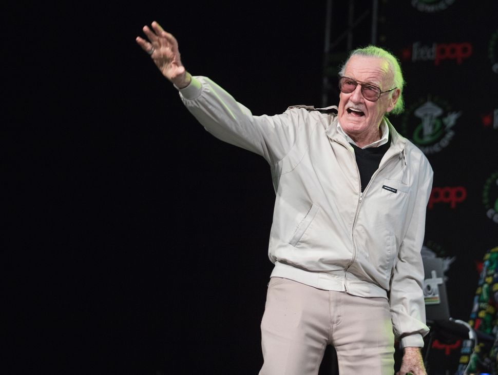 Stan Lee speaks on a panel during Emerald City Comic Con at Washington State Convention Center on March 4, 2017. in Seattle.