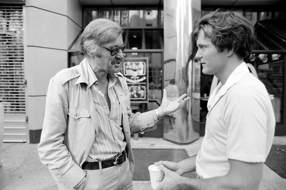 Stan Lee and Nicholas Hammond, the actor who played Peter Parker/Spider-Man on TV, on July 6, 1978.