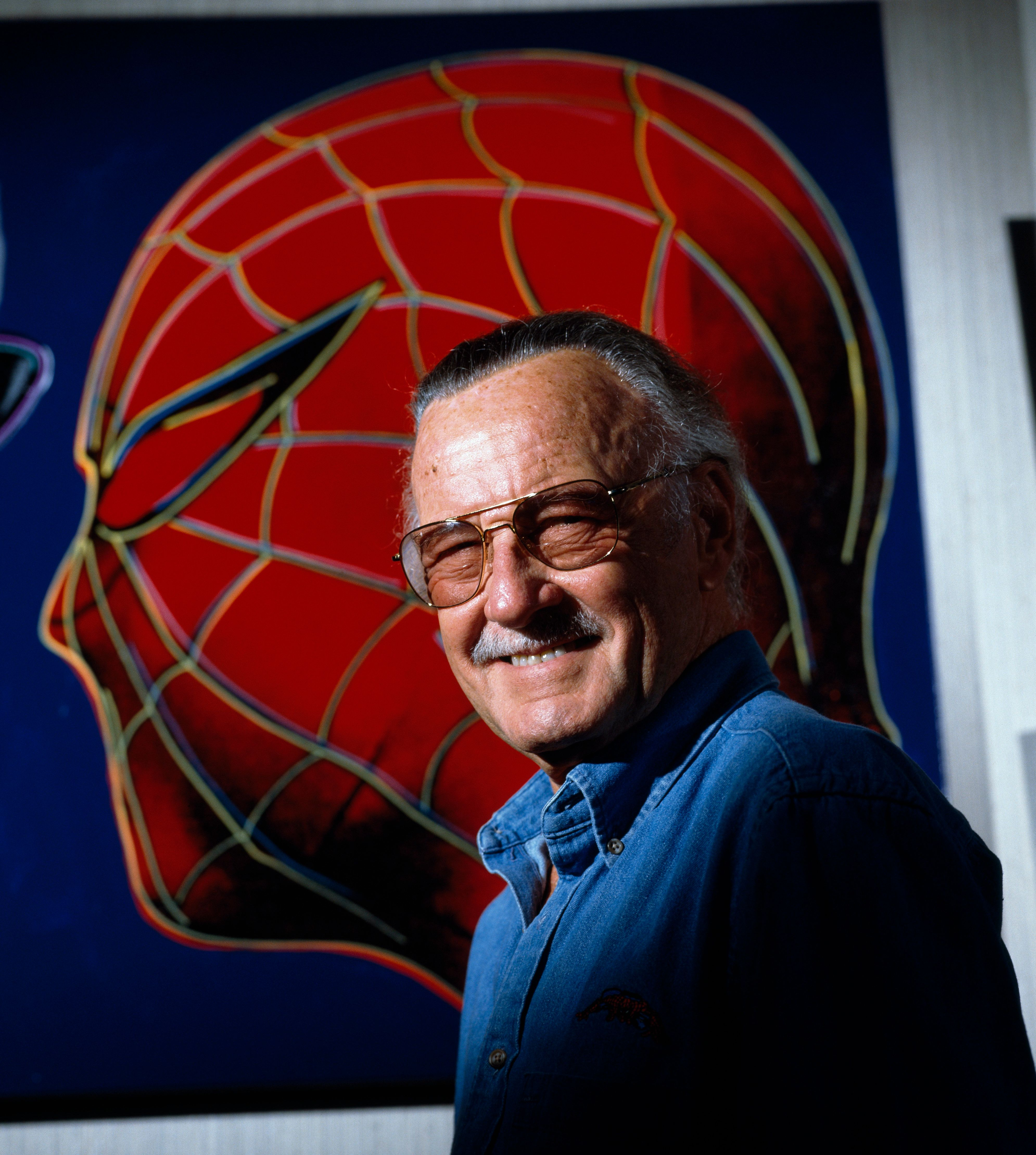 Stan Lee is an American comic book writer, editor, publisher, media producer, television host, actor, president and chairman of Marvel Comics. (Photo by Evan Hurd/Sygma/Corbis via Getty Images)