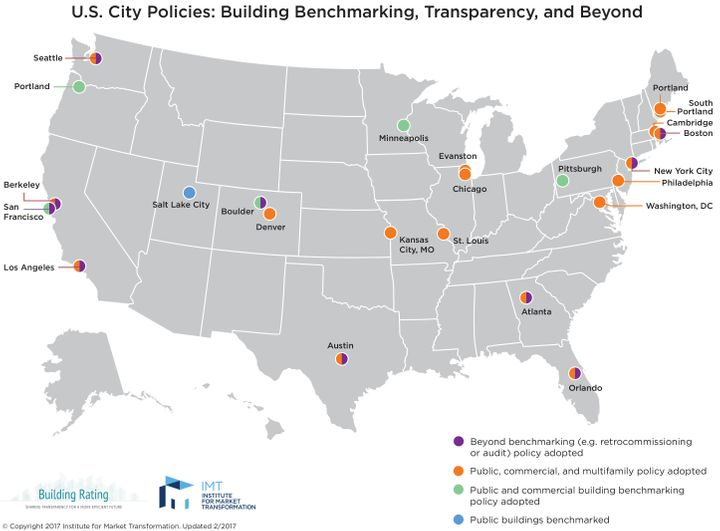 Roughly 24 small and major cities across the country now use Energy Star standards in their building codes.