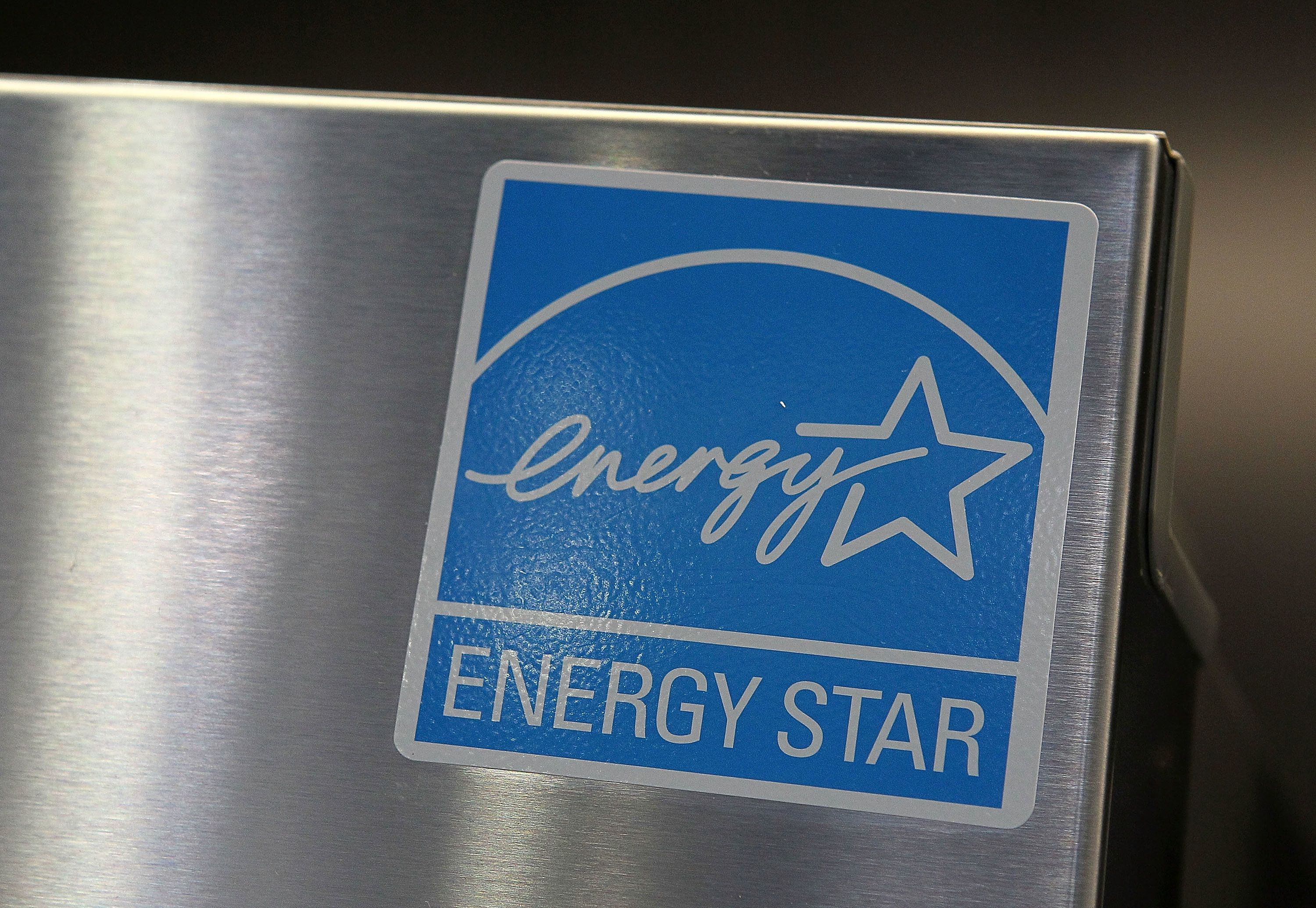 MARIN CITY, CA - MARCH 26:  An Energy Star label is displayed on a brand new refrigerator at a Best Buy store March 26, 2010 in Marin City, California. Government investigators from the General Accountability Office has concluded that the Environmental Protection Agency and the Energy Department run Energy Star program is susceptible to fraud and abuse. Investigators attempted to get Energy Star certification for 20 fake products, including a gasoline powered alarm clock, which was approved along with 14 other phony appliances. (Photo by Justin Sullivan/Getty Images)