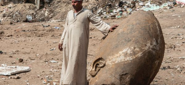 Colossal Ancient Egyptian Statue Unearthed In Cairo Slum