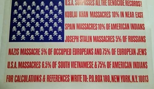 George Maciunas,  <em>U.S.A. Surpasses All The Genocide Records</em>, 1967  Silkscreen on paper