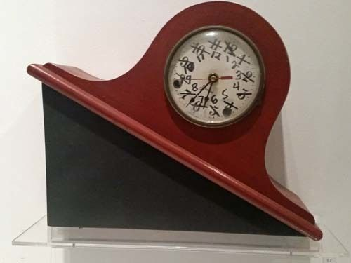 William Stone  <em>Correct Time</em>, n.d. Clock, painted pine, clock parts, marker