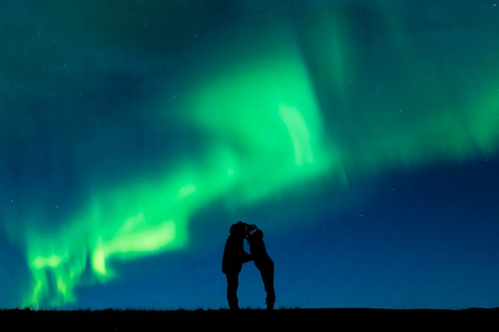 Love beneath the Northern Lights.