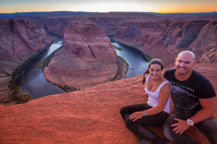 The couple at Horseshoe Bend in Arizona.