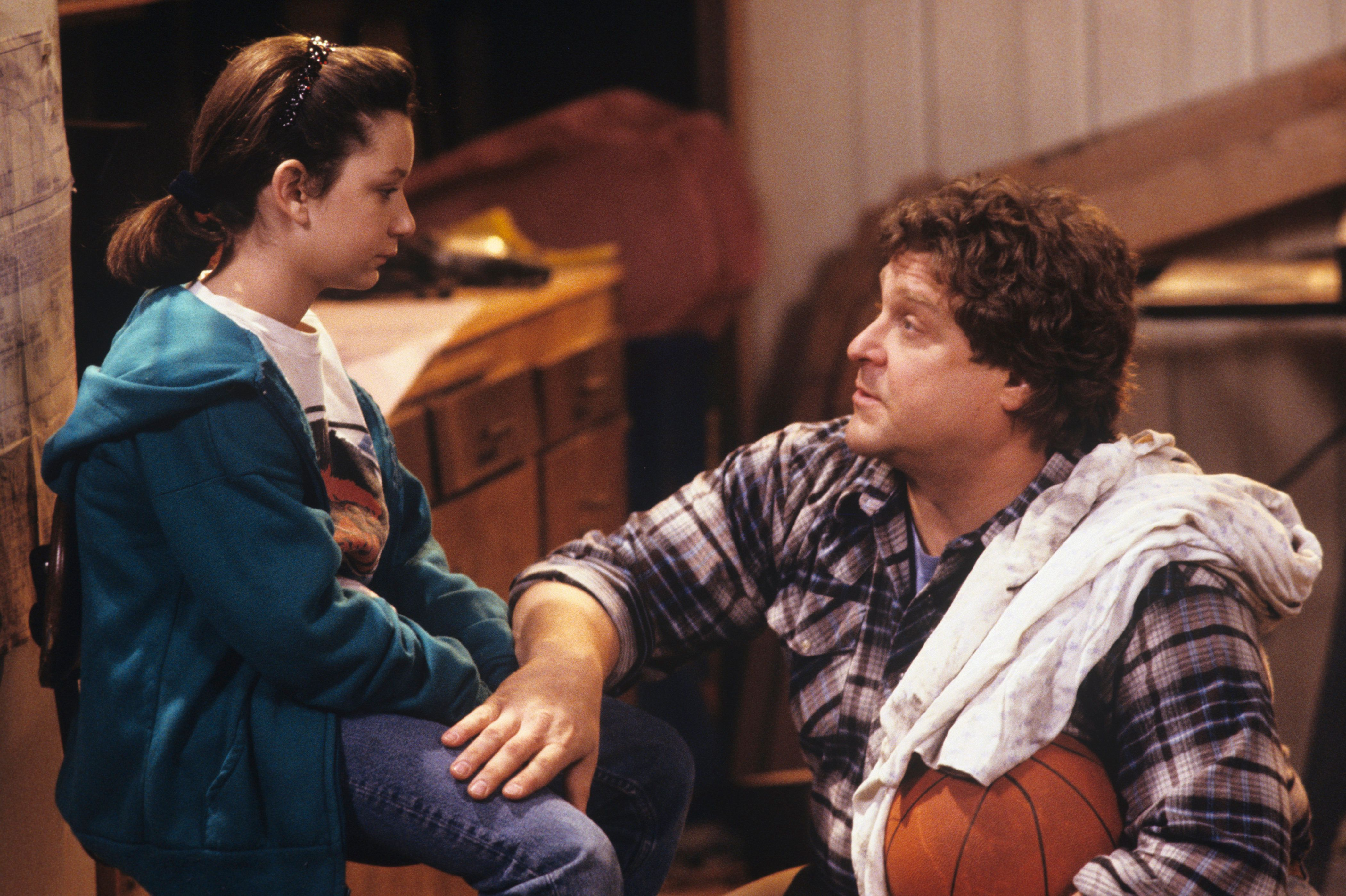 UNITED STATES - JANUARY 23:  ROSEANNE - 'Nightmare on Oak Street' 2/14/89 Sara Gilbert, John Goodman  (Photo by ABC Photo Archives/ABC via Getty Images)