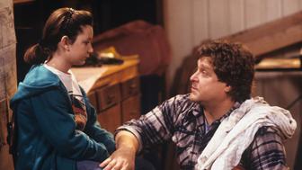 UNITED STATES - JANUARY 23:  ROSEANNE - 'Nightmare on Oak Street' 2/14/89 Sara Gilbert, John Goodman  (Photo by ABC Photo Archives/ABC via Getty Images)