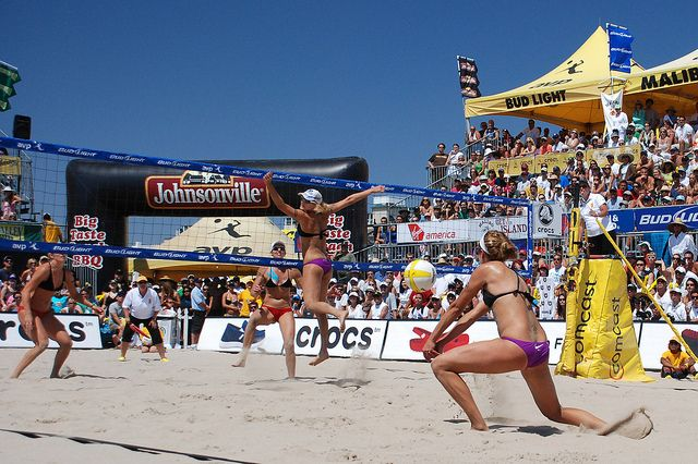 <p>Rio Olympics Beach Volleyball Competition</p>