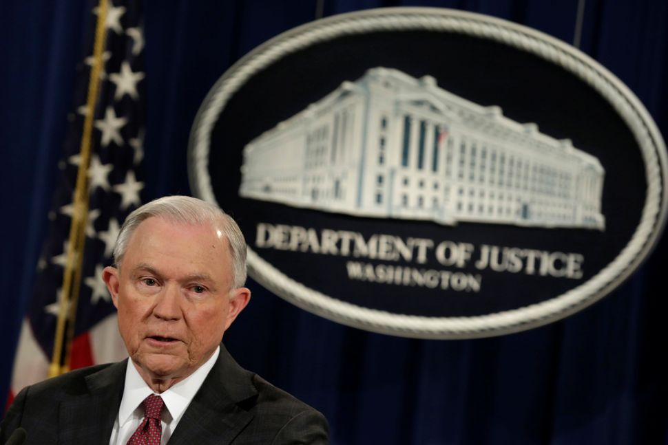 "U.S. Attorney General Jeff Sessions says the Department of Justice will ""pull back"" on investigations that he thinks have dim"