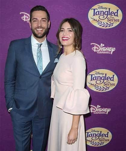 """Zachary Levi & Mandy Moore at this past Saturday's premiere of """"Tangled: Before Ever After"""" at the Paley Center in LA."""