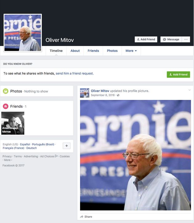 A Facebook user named Oliver Mitov posted dubious news links about Hillary