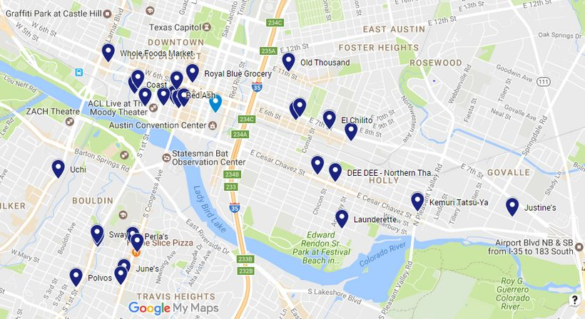 SXSW Austin Eating Guide 2017   HuffPost on live map, linkedin map, business map, culture map, marketing map, communication map, research map, love map, fashion map, networking map, food map, inspiration map, maker faire map, london map, fun map, tv map, coachella map, itunes map, sasquatch map, interactive map,