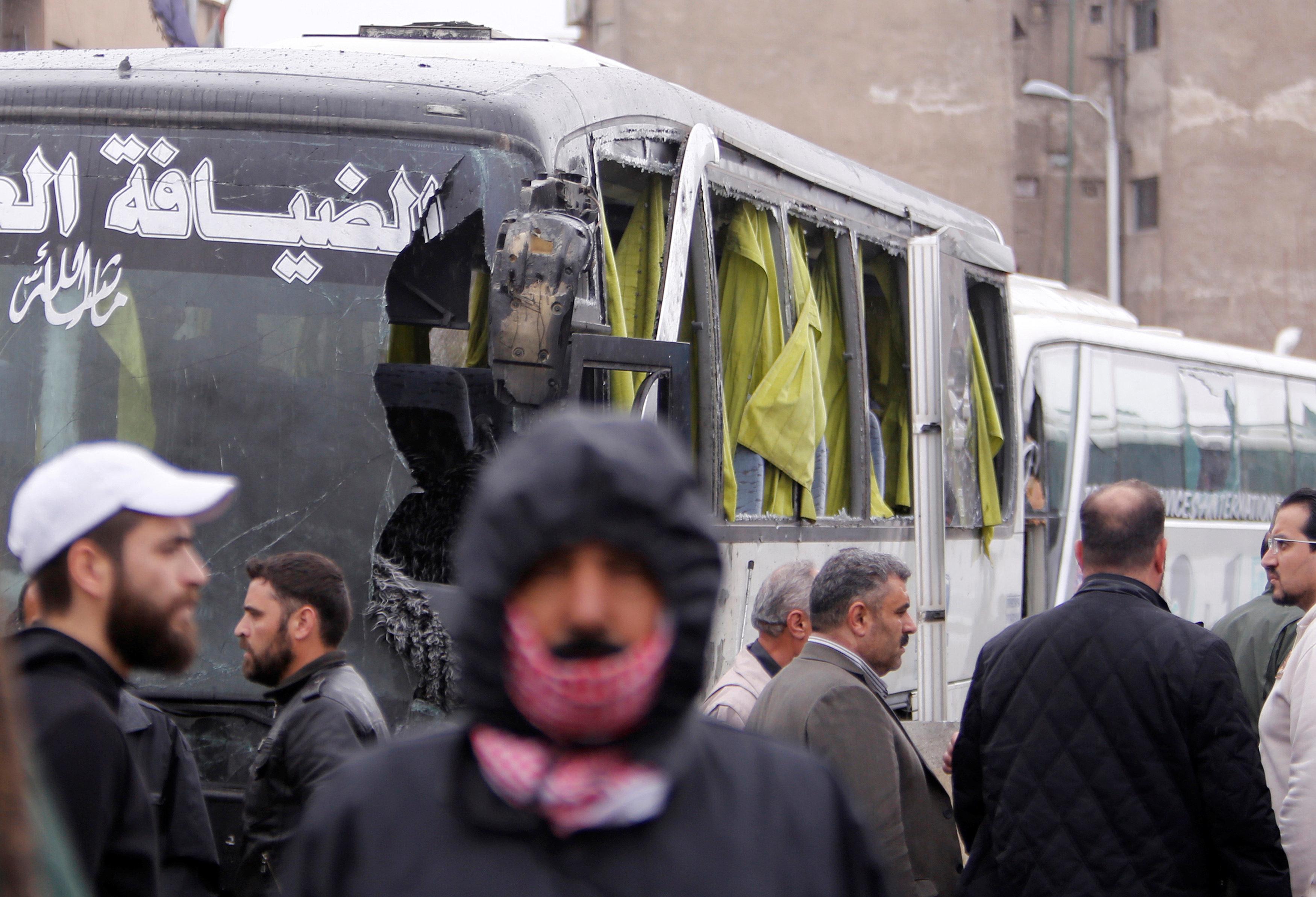 Scores Killed In Damascus Bombings Targeting