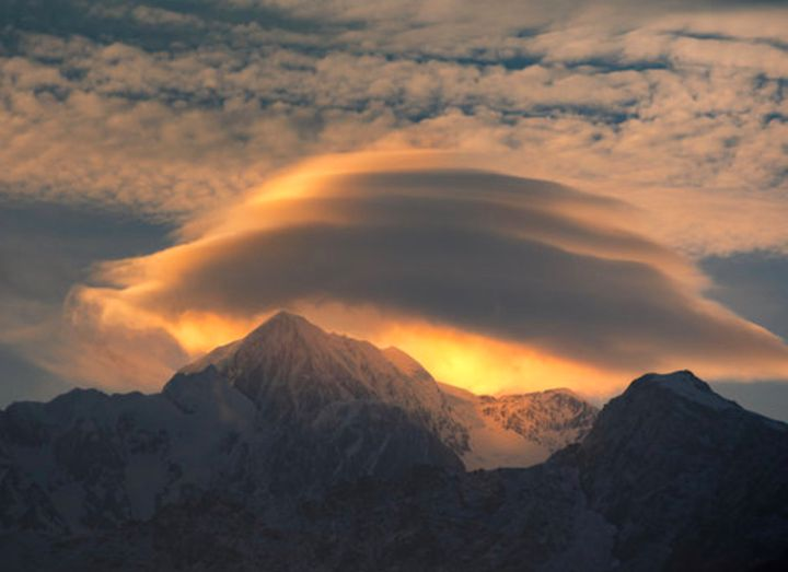 ufos in the clouds -- lenticular clouds  that is