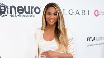 WEST HOLLYWOOD, CA - FEBRUARY 26:  Recording artist Ciara attends the 25th Annual Elton John AIDS Foundation's Academy Awards Viewing Party at The City of West Hollywood Park on February 26, 2017 in West Hollywood, California.  (Photo by Dimitrios Kambouris/Getty Images for EJAF)